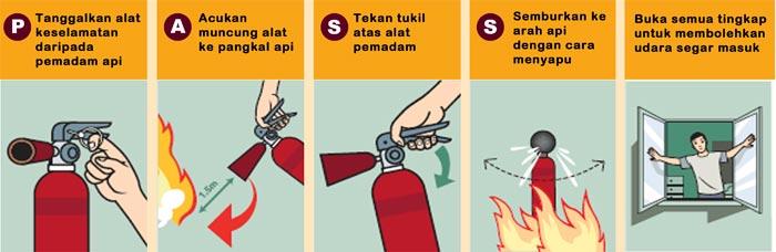 cara menggunakan alat pemadam kebakaran